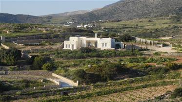 Οικολογική κατοικία με θέα στη θάλασσα πάνω από την Αλυκή στη νότια Πάρο