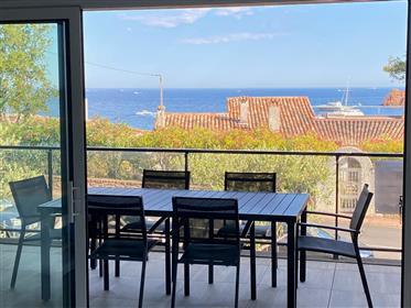 Apartamento recente à beira-mar com vista para o mar