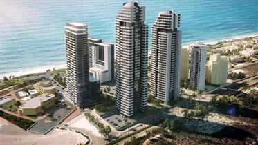 Nový a prestížny projekt Lagon, 124Sqm, 22. poschodie, v Netanyi