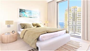 Nouveau appartement d'une chambre avec vue sur la mer et gar...