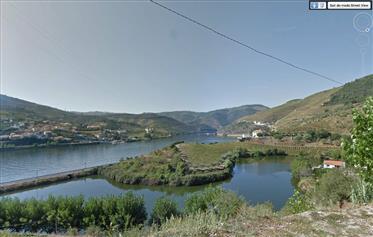 Bela quinta no Douro vinhateiro – frente e vista rio