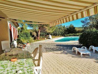 Maison indépendante 116m2 avec piscine et garage 54m2 sur un joli jardin paysager 2 500m2