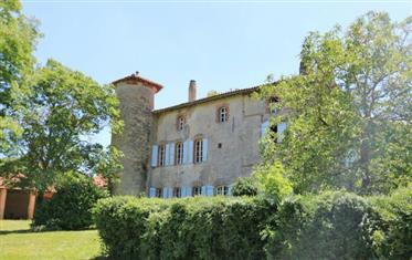 Château du 16/18 siècle 600m2 avec gîte 70m2 sis sur un beau...