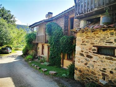 Charming stonebuild house with land and barn, exceptional restauration!