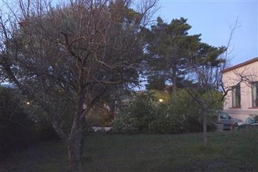 Property for sale in the historic village of Villeneuve Minervois on 1455m of land.