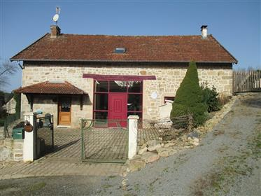 All mod cons, attractive stone house surrounded by 1.5 hecta...