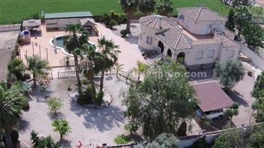 Grand villa con piscina en Catral