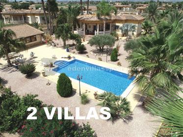 Villa con casa de invitados, garaje, piscina con gran jardín
