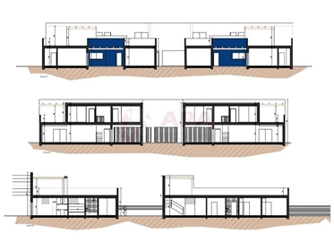 Moradia de tipologia T3, em construção, localizadas na freguesia de Monte Gordo, apenas a