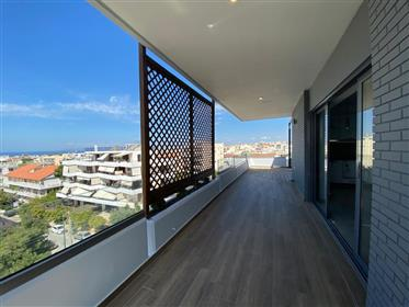 A fully renovated apartment in the area of Glyfada with huge veranda