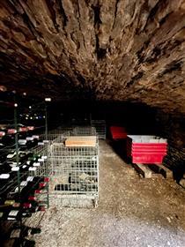 Maison en pierre avec du cachet, dans village viticole avec commerces