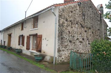 Stone farmhouse and barn in heart of Limousin countryside
