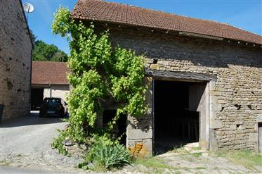 Stunning stone property with 3 barns nestled in a small haml...