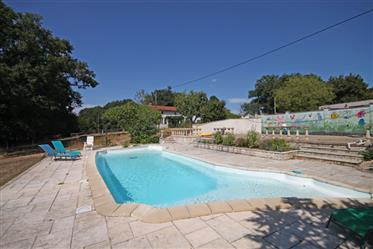 Lovely detached property with beautiful swimming pool, 2.6 hectares of land and gardens in a quiet h