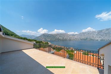 Three-Bedroom penthouse with amazing sea view in the heart of the Bay of Kotor