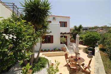 Village House in quiet location with garden & sea views
