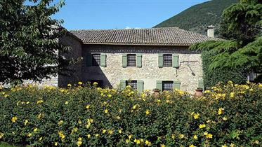 Villa Antico Mulino, Grande maison de campagne divisée en 2 unités séparées avec piscine, paysage