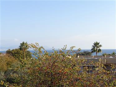 2 Pièces traversant vue mer Juan les pins Mas de Tanit avec garage