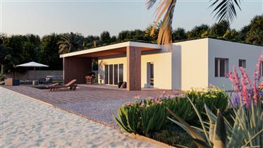 New bioclimatic villa with sea viewview