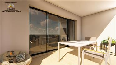Apartamentos T1 em fase de construção no centro de burgau a 200 metros da praia