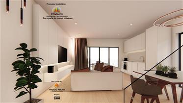 Apartamentos T0 em fase de construção no centro de burgau a 200 metros da praia