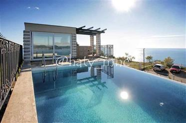 Luxury villa with sea views and pool in Rezevici