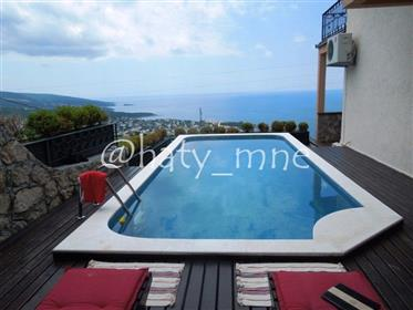 Quality villa with a view and a pool in Dobra Voda, Bar