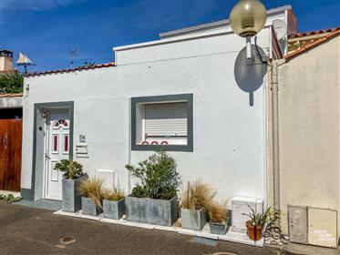 Belle maison de pêcheur de 71 m² entièrement rénovée avec sa cour ensoleillée de 15 m² à proximité d