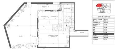 Apartment T4 garden level
