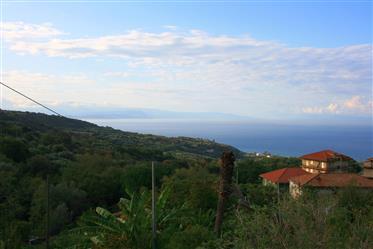 Joppolo Rustico mit Land mit Blick auf das Meer