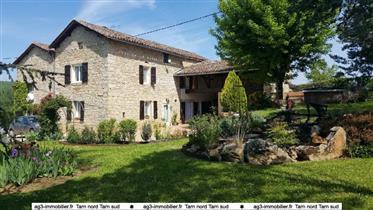 15 minutes de Cordes /ciel, St Antonin noble Val et Najac Maison de Charme pierre 250,+150  2 cuisin