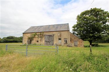 Detached house with barn and land