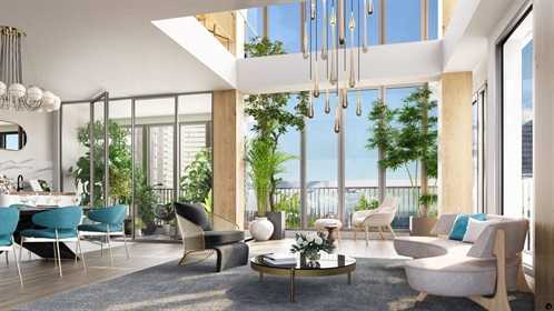 Gorgeous new residence overlooking the Seine river. Paris 13th. Studios to 6 room duplexes available