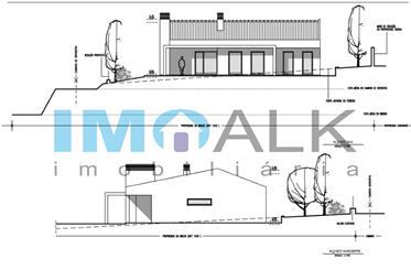 Terreno con proyecto de villa de una sola planta aprobado en Quatrim Olho en el Algarve