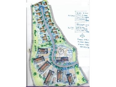 Terreno urbano com projeto para moradias e apartamentos