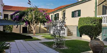 3 bedroom entirely renovated old traditional townhouse with beautiful spacious flowered garden and p