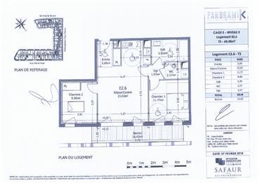Appartamento : 61 m²
