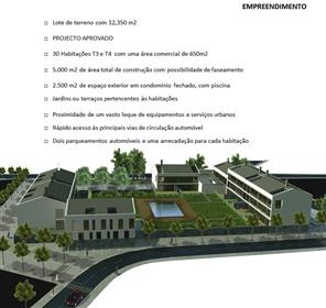 Lote de Terreno - com Projecto Aprovado para Construção de condomínio fechado