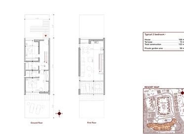 2 bedroom villa with sea view