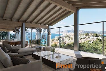 #Villenprojekt mit 5 Schlafzimmer und #Meerblick in #Santa Ponsa zu verkaufen