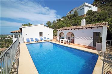 Villa avec appartement d'invités et vue mer à Monte Pego