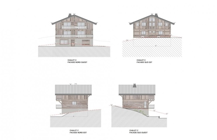 An exclusive project of 4 luxury chalets, delivered as a wat...
