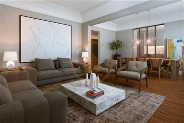 Distinto apartamento T3 com remodelação integral e design contemporâneo em localização de excelência