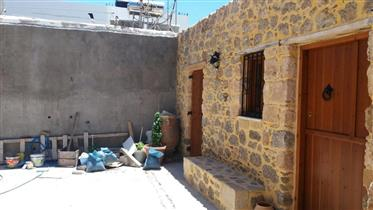 A traditional stone house with courtyard in Palaikastro.