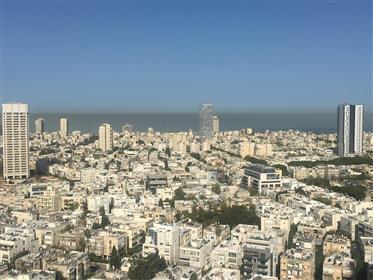 Komplette Wohnung in einem Luxusturm, privilegierte und ruhige Lage im Zentrum von Tel Aviv