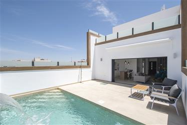 Attached villa with basement in Benijofar, Costa Blanca South, Alicante, Spain