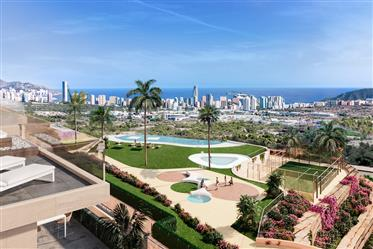 Beautiful luxury penthouse with fantastic sea view in Finestrat, Costa Blanca North, Alicante, Spain