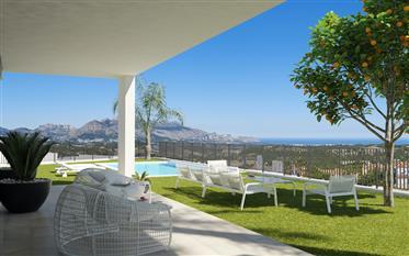 Maison de style moderne exceptionnelle avec de superbes vues sur la mer à Polop, Costa Blanca Nord,
