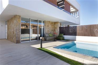 Beautiful modern semi-detached villa in San Pedro del Pinatar, Costa Calida, Murcia, Spain