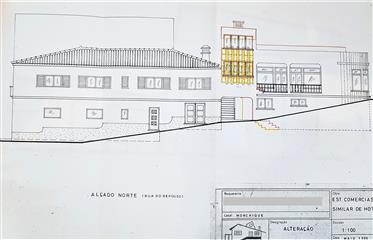 Prédio com 7 lojas, 1 apartamento com 4 quartos e possibilidade de construir mais 4 apartamentos.